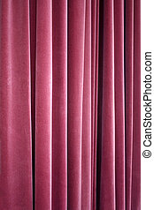 Red Theater Velvet Curtain Closeup