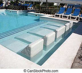 Seats Into a Swimming Pool