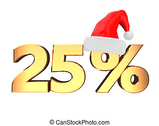25 percent discount - 3d illustration of 25 percent discount...