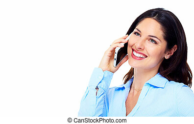 Woman with a cellphone.
