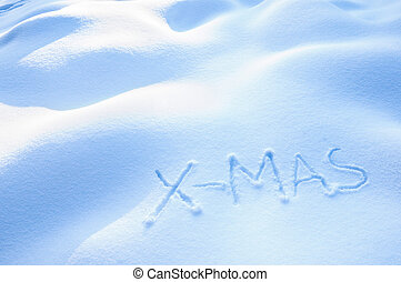 X-Mas in Snow - X-Mas written in the Snow