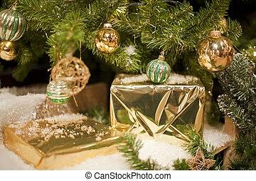 Golden Packages for Christmas