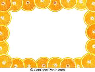 frame of fresh orange fruit