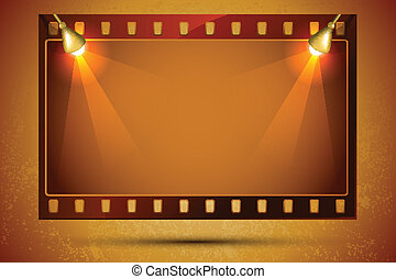 Blank Film Strip - illustration of blank film strip frame...
