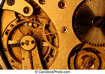 golden gear shiny mechanical background