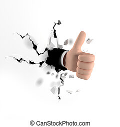 Thumb Up Gesture. approval