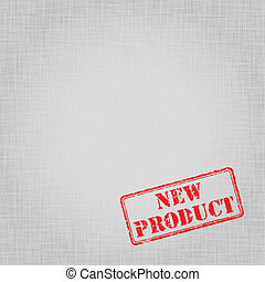 Template for advertising with print on canvas - Black and...