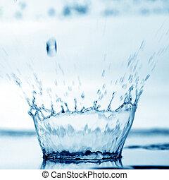 water splash - blue water splash nature background