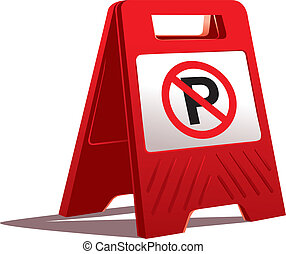 no parking sign - vector no parking sign