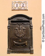 letter box - Metal letter box with nice decoration