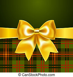 Background with yellow ribbon bow