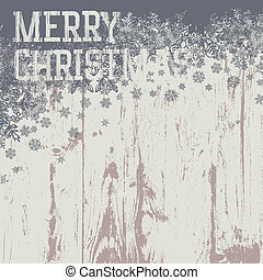 Merry christmas greetings on wooden background. Vector...
