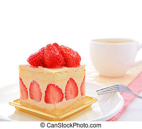 sweet cake with strawberry - Dessert - sweet cake with...