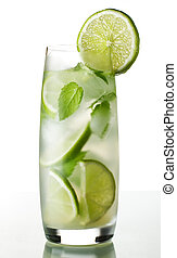 mojito - fresh mojito on white background close up