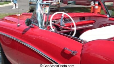 Shiny Convertible Classic Car - Red convertible classic car...