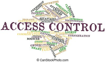Access control - Abstract word cloud for Access control with...