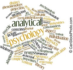 Analytical psychology - Abstract word cloud for Analytical...