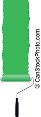 paint roller - green paint roller