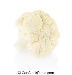 Piece of fresh cauliflower on white - Piece of fresh...