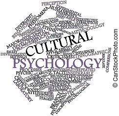 Cultural psychology - Abstract word cloud for Cultural...