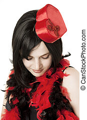 Beautiful girl in fancy dress - Image of beautiful girl in...