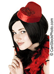 Beautiful girl in fancy dress - Image of beautiful girl in...