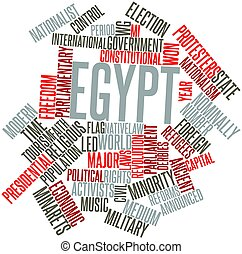 Word cloud for Egypt - Abstract word cloud for Egypt with...