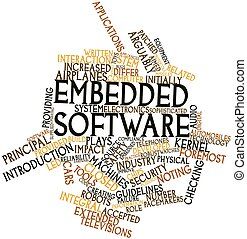 Embedded software - Abstract word cloud for Embedded...
