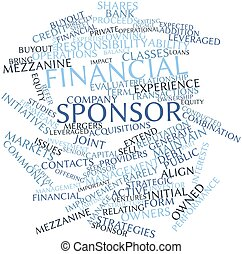 Word cloud for Financial sponsor - Abstract word cloud for...