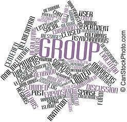 Group - Abstract word cloud for Group with related tags and...
