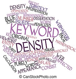 Keyword density - Abstract word cloud for Keyword density...