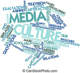 Media culture - Abstract word cloud for Media culture with...