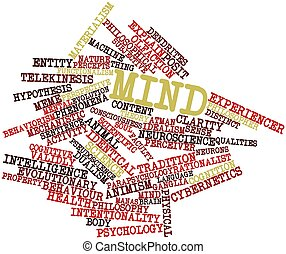 Word cloud for Mind - Abstract word cloud for Mind with...