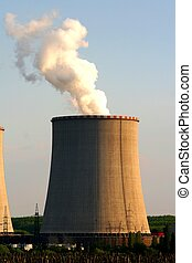 Cooling tower - The cooling tower of a thermal power station...