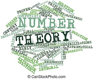 Number theory - Abstract word cloud for Number theory with...