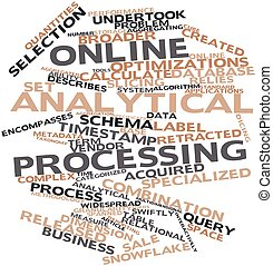 Online analytical processing - Abstract word cloud for...