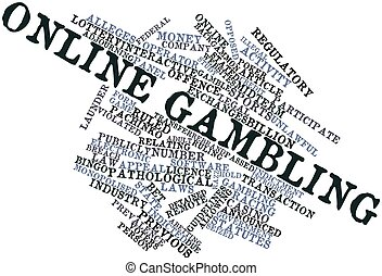 Online gambling - Abstract word cloud for Online gambling...