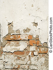 brick broken background - old brick wall great as a...