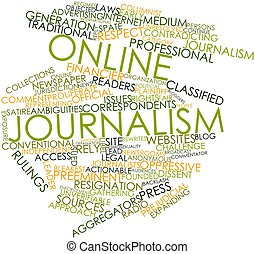 Online journalism - Abstract word cloud for Online...