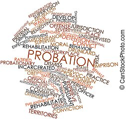 Probation - Abstract word cloud for Probation with related...