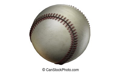 BaseBall - Rotation on white background