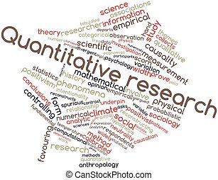 Quantitative research - Abstract word cloud for Quantitative...
