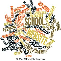 School website - Abstract word cloud for School website with...