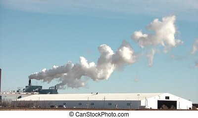 Time-lapse of Pollution Emitting - Time-lapse of pollution...
