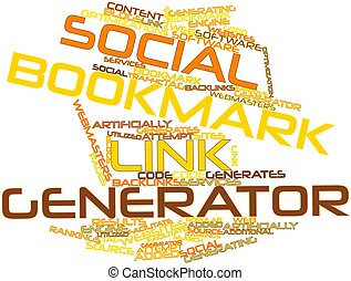 Social bookmark link generator - Abstract word cloud for...