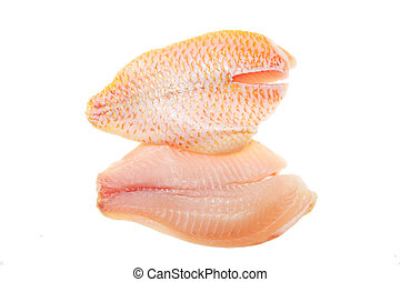 Red snapper fillets - Red snapper fish fillets isolated on...