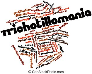Trichotillomania - Abstract word cloud for Trichotillomania...