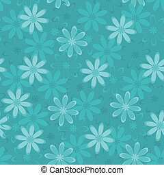 Seamless floral background, symbolical silhouettes and...