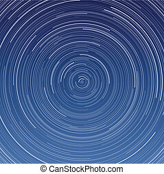 Star Trails - Layered vector illustration of Star Trails...