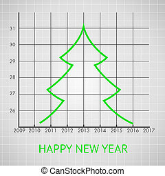 Fir tree diagram, vector illustration.